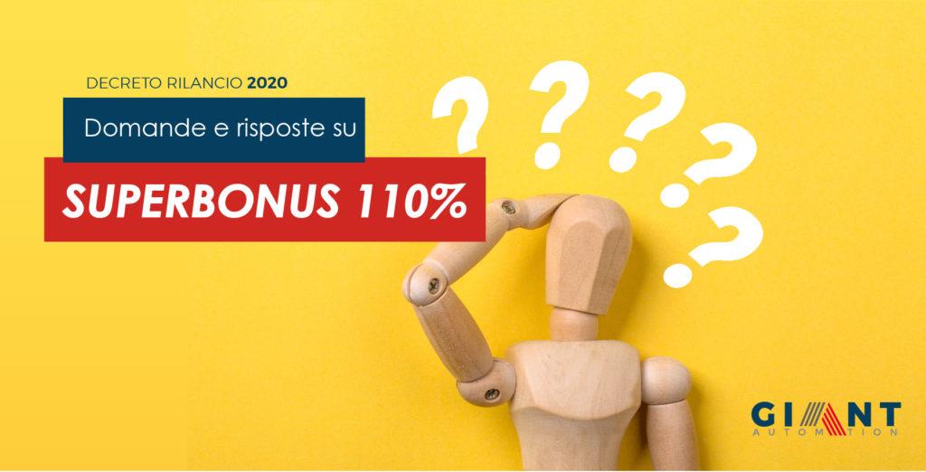 Domande e risposte Superbonus 110%